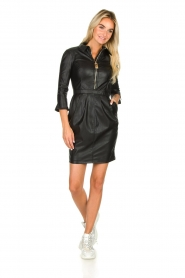 ELISABETTA FRANCHI |  Faux leather dress Tirza | black  | Picture 4