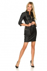 ELISABETTA FRANCHI |  Faux leather dress Tirza | black  | Picture 3