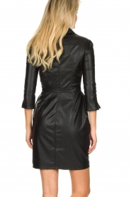 ELISABETTA FRANCHI |  Faux leather dress Tirza | black  | Picture 6