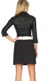 ELISABETTA FRANCHI |  Faux leather top Zoella | black  | Picture 5