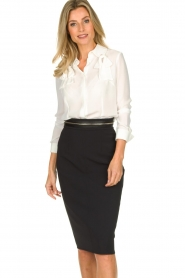 ELISABETTA FRANCHI | Pencil skirt Eliza | black  | Picture 2