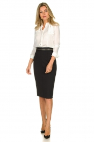ELISABETTA FRANCHI | Pencil skirt Eliza | black  | Picture 3