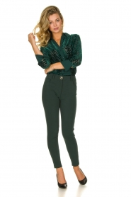 ELISABETTA FRANCHI | Stretch trousers Natalia | green  | Picture 3