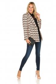 ELISABETTA FRANCHI |  Blazer with logo print Rachel | pink  | Picture 3