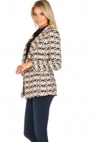 ELISABETTA FRANCHI |  Blazer with logo print Rachel | pink  | Picture 4