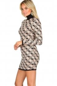 ELISABETTA FRANCHI |  Logo print dress Amber | pink  | Picture 6
