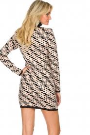 ELISABETTA FRANCHI |  Logo print dress Amber | pink  | Picture 7