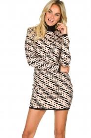 ELISABETTA FRANCHI |  Logo print dress Amber | pink  | Picture 5