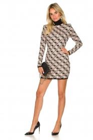 ELISABETTA FRANCHI |  Logo print dress Amber | pink  | Picture 3