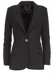 ELISABETTA FRANCHI |  Blazer with logo details Tula | black  | Picture 1