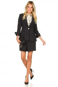 ELISABETTA FRANCHI |  Blazer with logo details Tula | black  | Picture 3