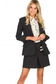 ELISABETTA FRANCHI |  Blazer with logo details Tula | black  | Picture 2