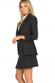 ELISABETTA FRANCHI |  Blazer with logo details Tula | black  | Picture 4