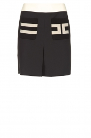 ELISABETTA FRANCHI |  Mini skirt with pockets Uno | black  | Picture 1