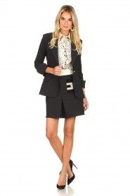 ELISABETTA FRANCHI |  Mini skirt with pockets Uno | black  | Picture 3