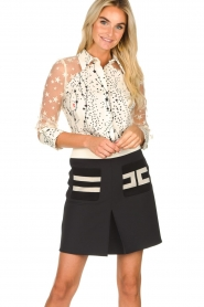 ELISABETTA FRANCHI |  Mini skirt with pockets Uno | black  | Picture 2