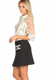 ELISABETTA FRANCHI |  Mini skirt with pockets Uno | black  | Picture 4