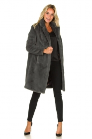 OAKWOOD |  Faux fur coat Cyber | grey  | Picture 3