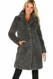 OAKWOOD |  Faux fur coat Cyber | grey  | Picture 5
