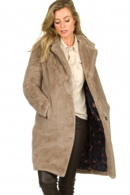 OAKWOOD |  Faux fur coat Cyber | grey  | Picture 4