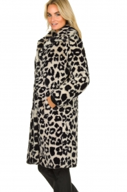 OAKWOOD |  Coat with animal print Wolf  | black & white  | Picture 4