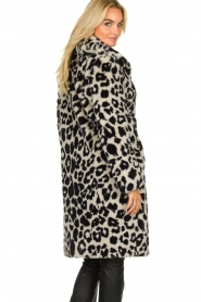 OAKWOOD |  Coat with animal print Wolf  | black & white  | Picture 5