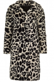 OAKWOOD |  Coat with animal print Wolf  | black & white  | Picture 1