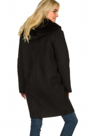 OAKWOOD |  Coat with lammy lining Leonie | black  | Picture 5