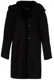 OAKWOOD |  Coat with lammy lining Leonie | black  | Picture 1