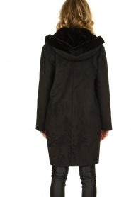 OAKWOOD |  Coat with lammy lining Leonie | black  | Picture 6