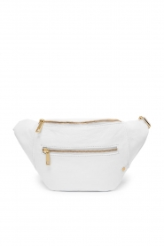 Depeche |  Leather fanny pack Lie | white