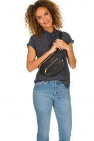 Depeche |  Leather fanny pack Lie | black  | Picture 2
