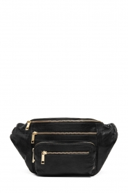 Depeche |  Leather fanny pack Nicol | black  | Picture 1
