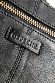 Depeche | Leather shoulder bag Belinda | black  | Picture 5