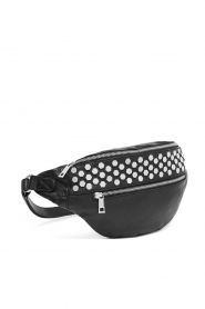 Depeche : Leather fanny pack Rosanna | black - img3