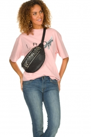 Depeche : Leather fanny pack Rosanna | black - img2