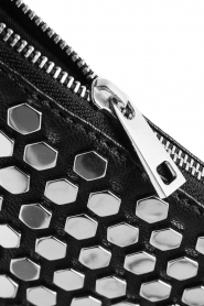 Depeche | Leather shoulder bag Amanda | black  | Picture 6