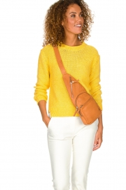 Depeche |  Leather shoulder bag Alessia | camel  | Picture 2