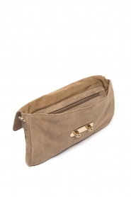 Depeche :  Suede clutch Isabelle | natural - img3