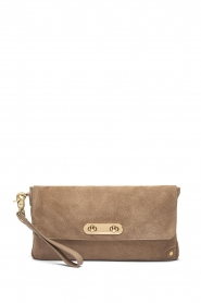 Depeche |  Suede clutch Isabelle | natural