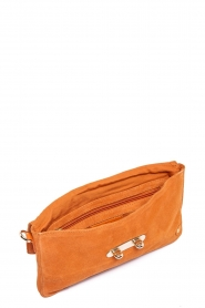 Depeche |  Suede clutch Isabella | orange  | Picture 3