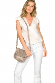 Depeche | Leather shoulder bag with snake print Chloe | multi  | Picture 2