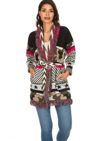 Est-Seven |  Cardigan with prints Army | multi  | Picture 4