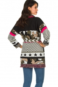 Est-Seven |  Cardigan with prints Army | multi  | Picture 6