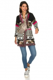 Est-Seven |  Cardigan with prints Army | multi  | Picture 3