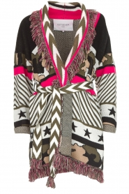 Est-Seven |  Cardigan with prints Army | multi  | Picture 1