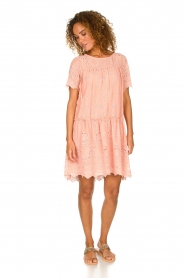 Fracomina |  Embroidery dress Tilda | pink  | Picture 3