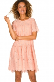 Fracomina |  Embroidery dress Tilda | pink  | Picture 2
