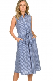Set | Dress with stripes Isabella | blue   | Picture 2