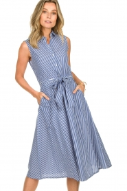 Set | Dress with stripes Isabella | blue   | Picture 5